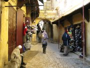 The alleyways of Fez