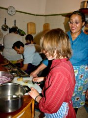 "A cookery class with ""Little Latifa"" (c) Hilary Stock)"