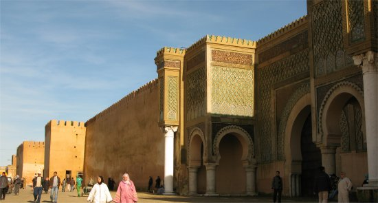 Bab Mansour and walls of the kasbah