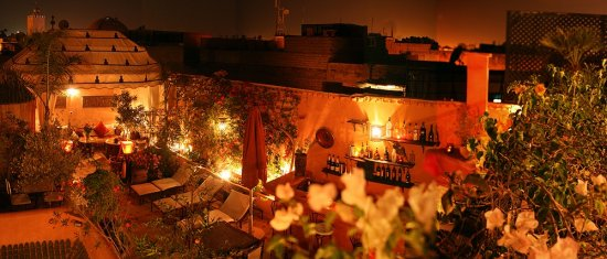 Riad Jona Terrace and Bar by Night