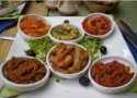 Selection of vegatarian dishes