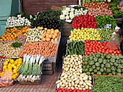 Locally produce is available in all markets