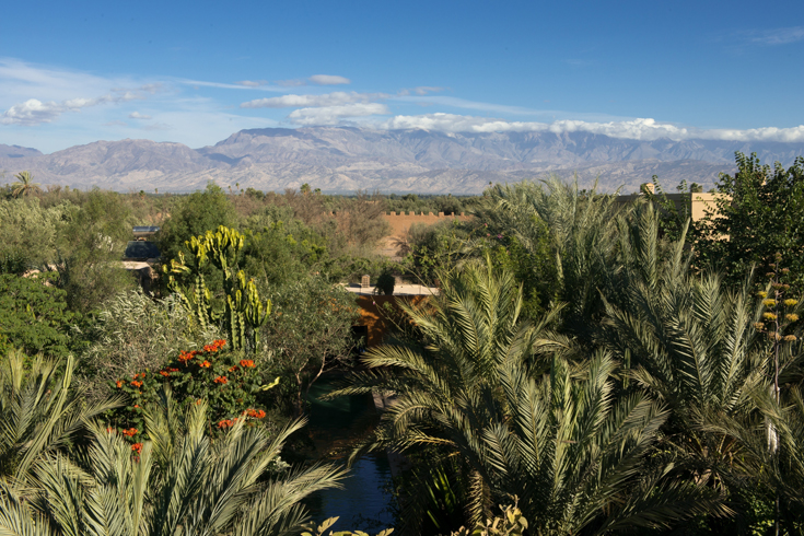 Garden & view of Atlas Mountains