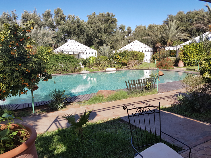 Berber village with pool