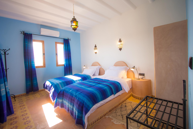Traditional Bedouin desert camp