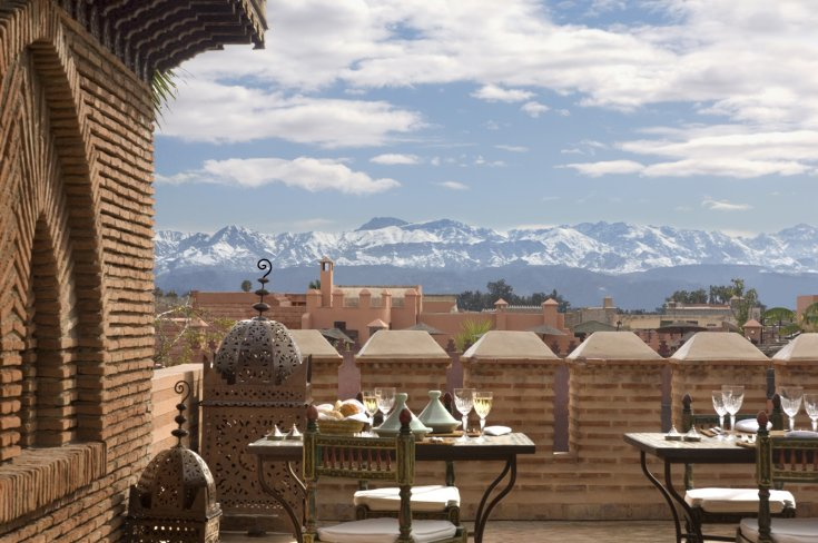Terraces with High Atlas Views