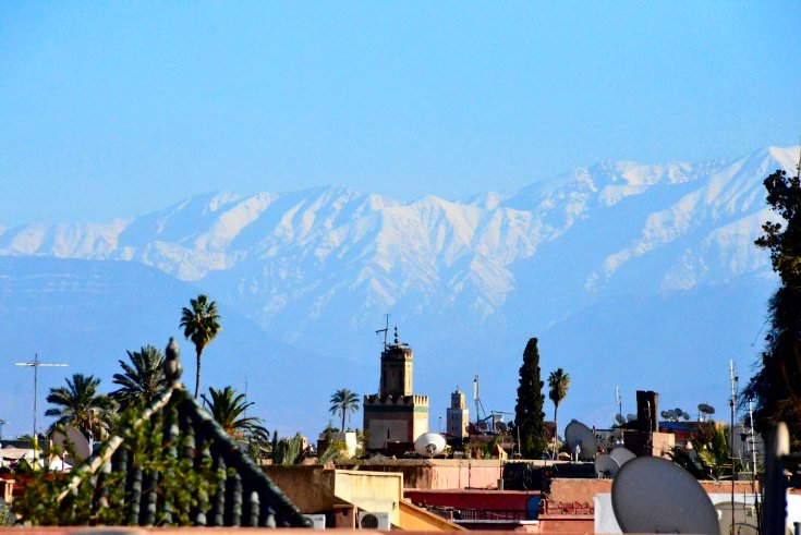 View of the Atlas Mountains