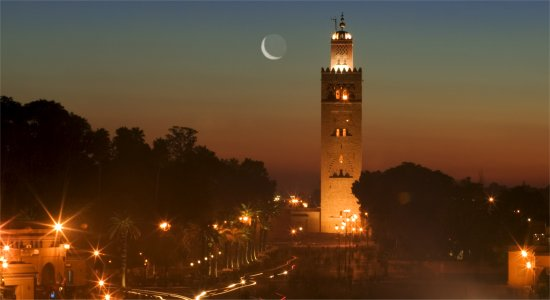 Marrakech city at night