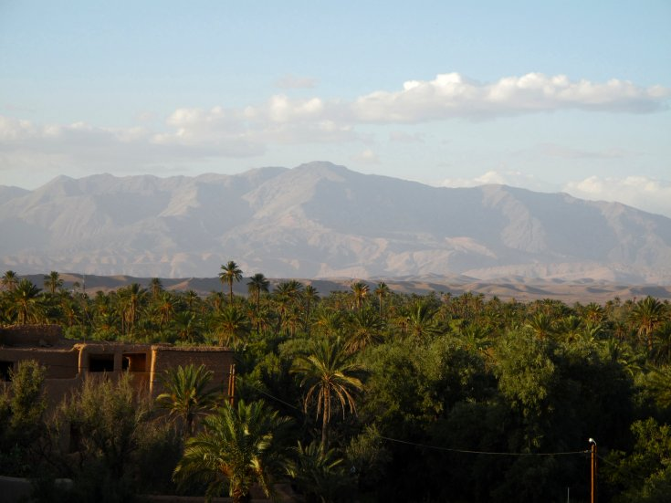 View of the Oasis & mountains beyond