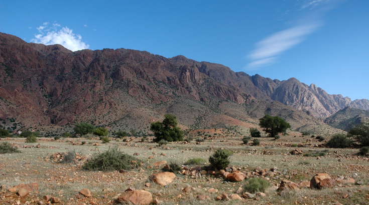 Rugged mountains of Tafraoute