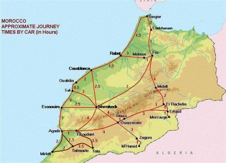Journey Times in Morocco